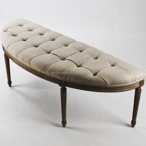 how to build a curved upholstered bench