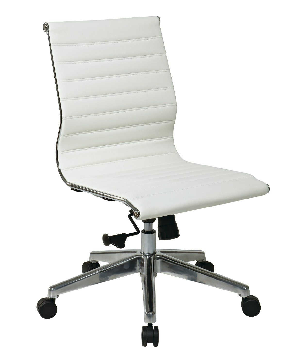 Mid-Back Eco Leather Office Chair  sc 1 st  Foter & White Leather Desk Chairs - Ideas on Foter