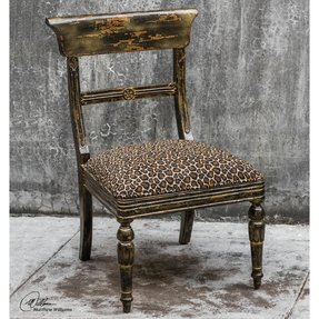 Tambra Leopard Print Accent Side Chair