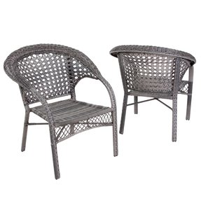 Wicker Club Chair (Set of 2)