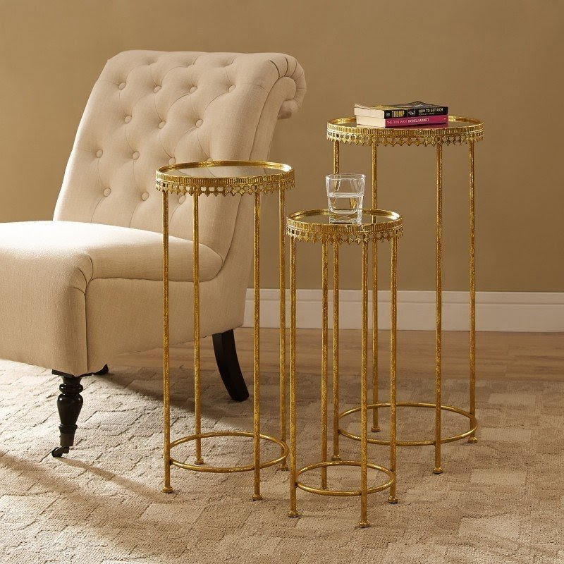 3 Piece Nesting Table Set & Gold Nesting Tables - Foter