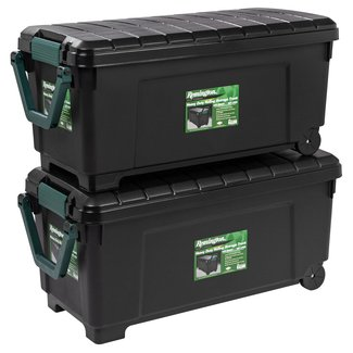 42 Gallon Heavy Duty Storage Trunk with Wheels (Set of 2)