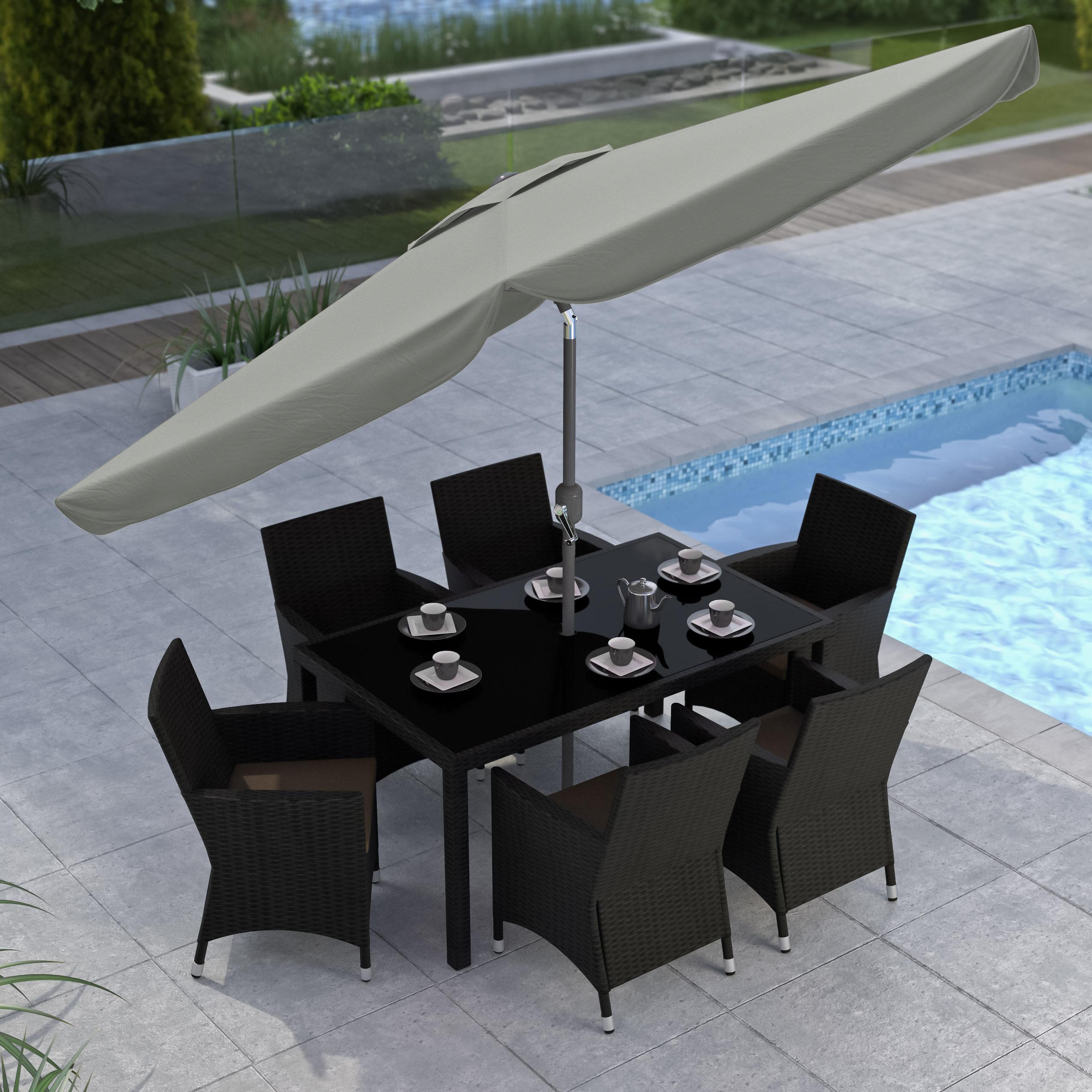 9u0027 Tilting Patio Umbrella