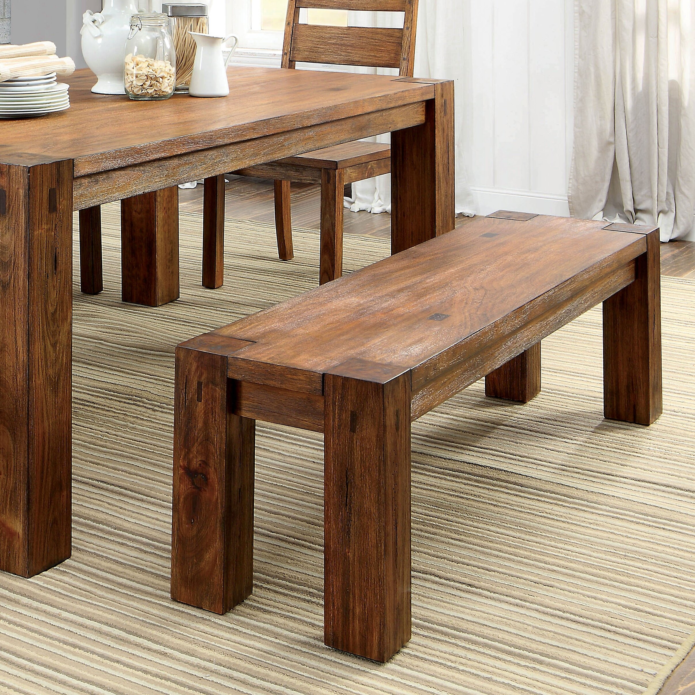 Awesome Bethanne Wood Kitchen Bench