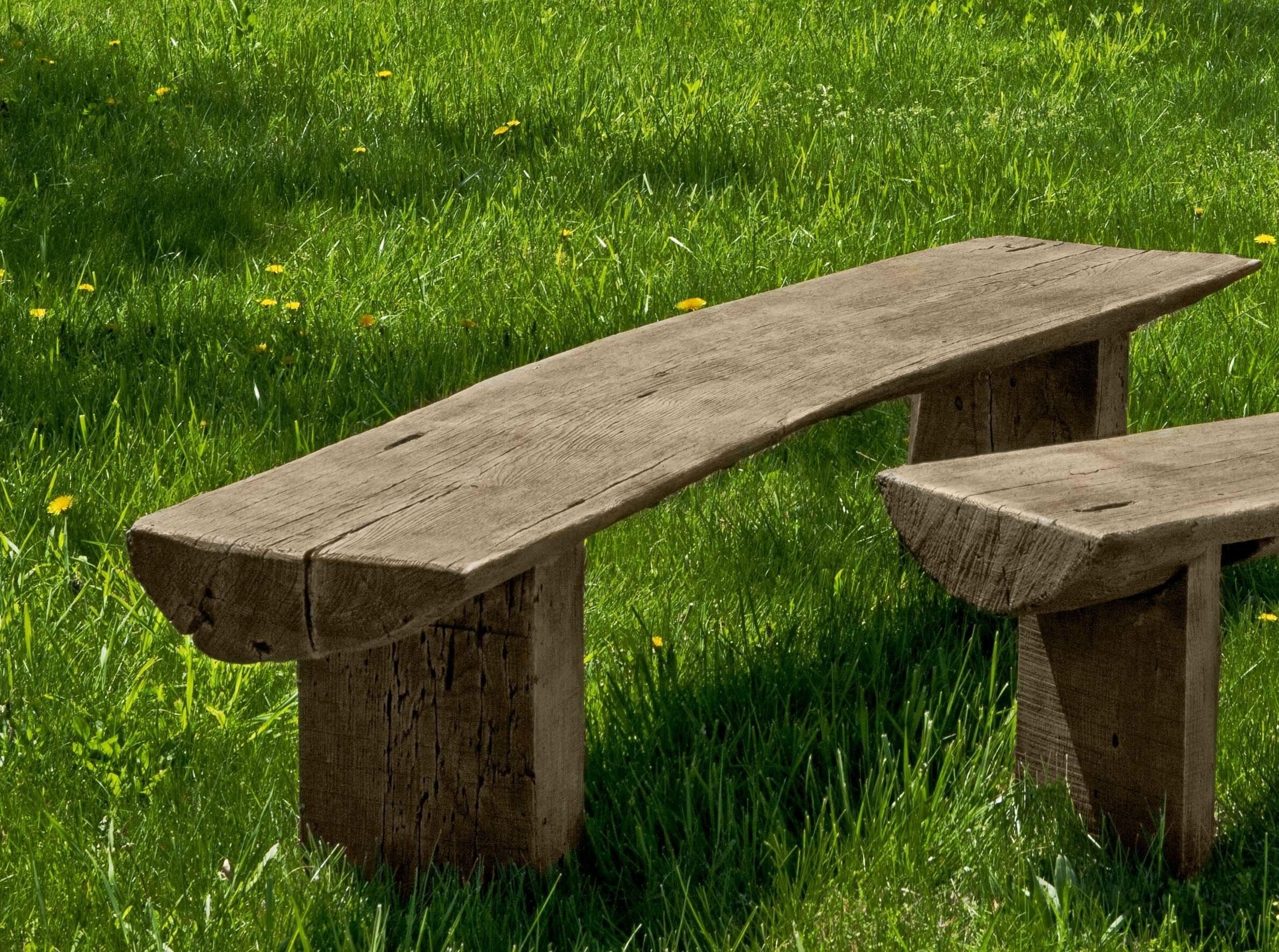 Bois Cast Stone Garden Bench