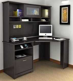 Cabot Corner Computer Desk with Hutch