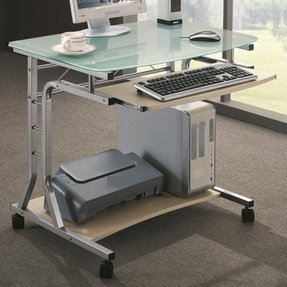 Small Computer Table With Wheels Foter