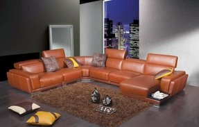 Divani Casa Leather Sectional Sofa