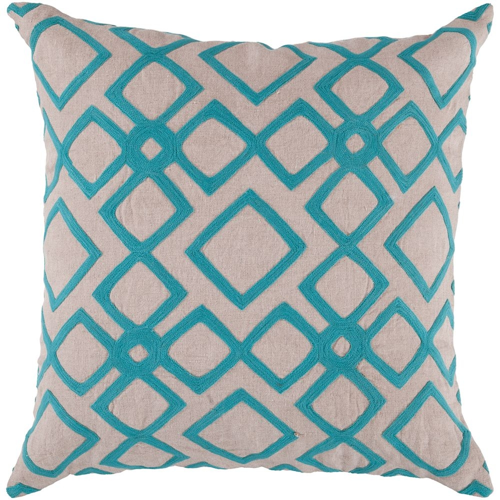 Divine Diamond Linen Throw Pillow
