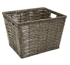 Grey Chip Storage Basket