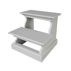 Halifax 2-Step wood Bed Step Stool with 200 lb. Load Capacity