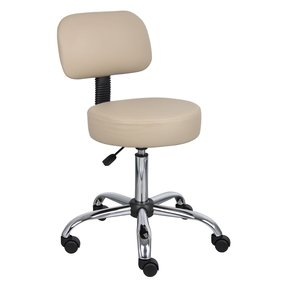 Height Adjustable Doctor's Stool with Cushion