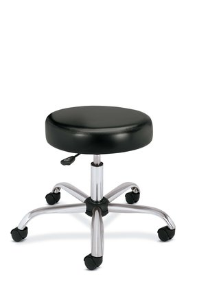 Height Adjustable Medical Exam Stool with Back