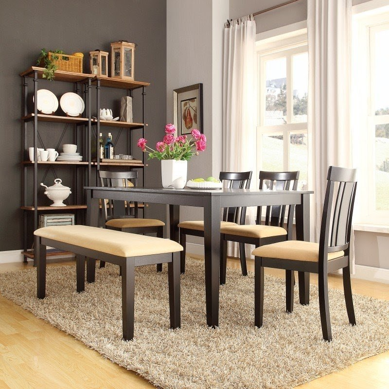 Jeannette 6 Piece Dining Set & Dining Table With Chairs And Bench - Foter