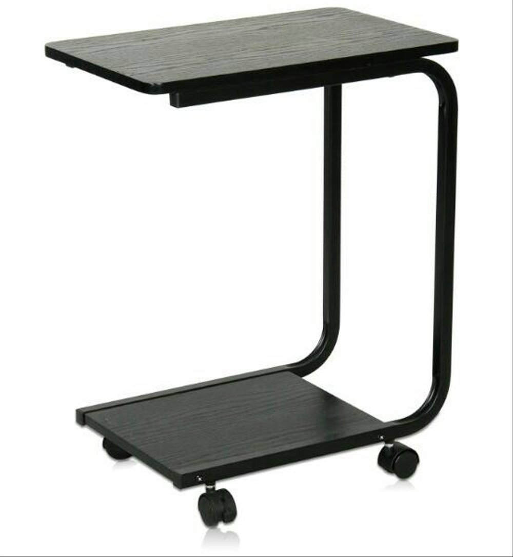 Charmant Laptop Table Mounted On Wheels For Easy Movement. Construction Is Made Of A  Combination Of Wood And Metal. It Saves Space And Enhances The  Functionality Of ...