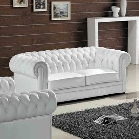 white leather furniture tufted white leather sofa foter 21995 | madeline leather sofa 1