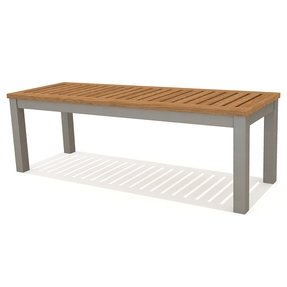 Maitland Outdoor Backless Aluminum Picnic Bench