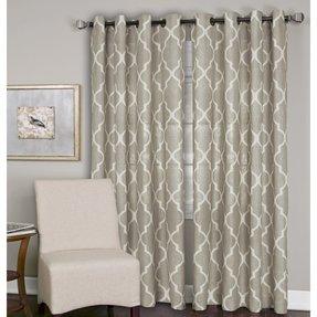 Burlap Curtain Panels Grommets