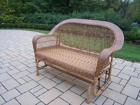 Oakland Living Coventry Wicker Glider