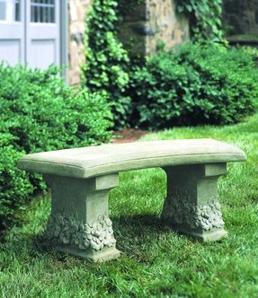 Pansy Cast Stone Garden Bench
