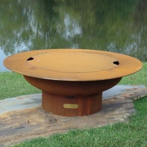 Saturn with Lid Fire Pit