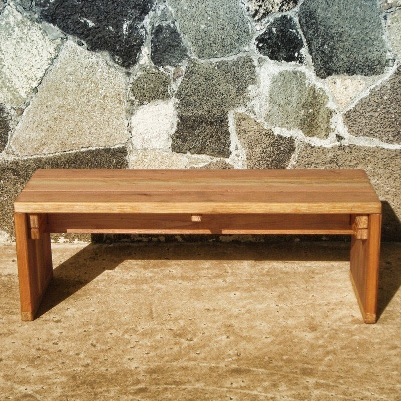 Solid Wood Patio Bench