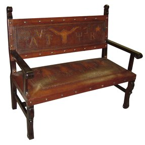Spanish Heritage Leather Bench