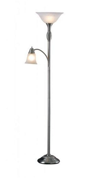 "Torchiere 71"" Floor Lamp with Side Reading Lamp"