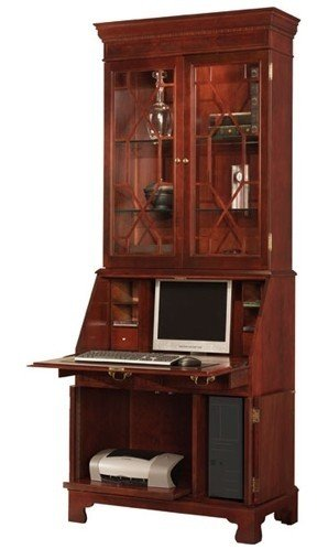 Delicieux Traditions Painted Computer Secretary With Hutch