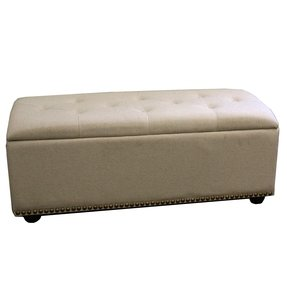 Upholstered Storage Bedroom Bench with Seating