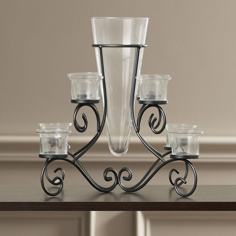 Waldemar Wrought Iron Candelabra