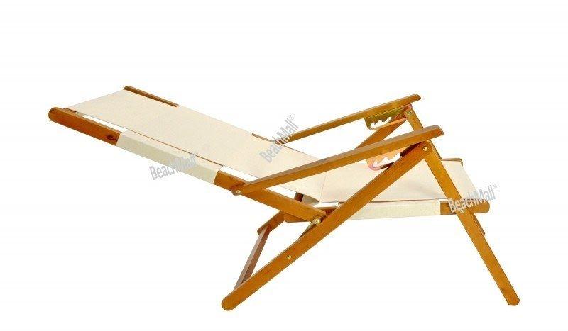 Wood Beach Chairs Reclining Folding Lawn Chair 1