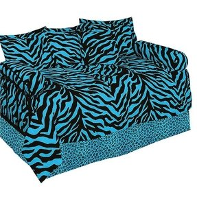 Zebra Daybed Ensemble 5 Piece Comforter Set