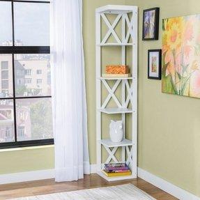 65 corner bookcase - Corner Bookshelves