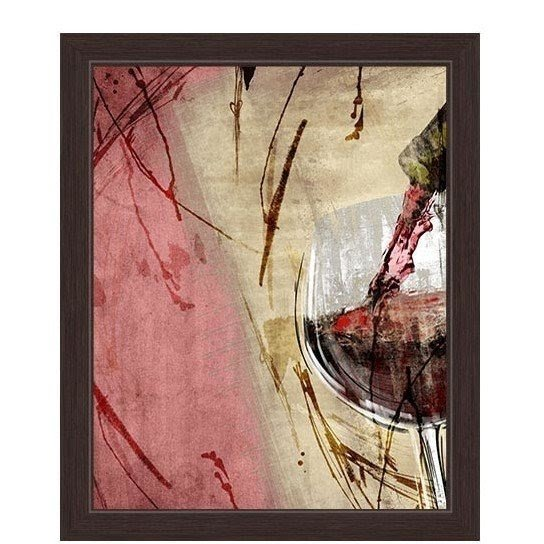 Artistic Pouring Red Wine Right Painting Print on Canvas