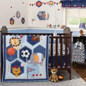Baby League 3 Piece Crib Bedding Set