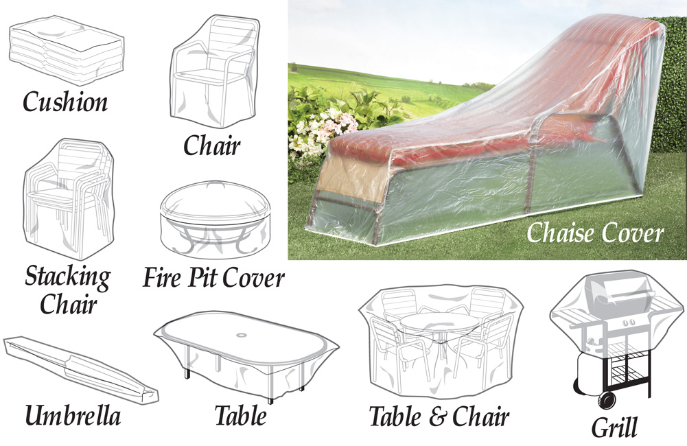 clear patio furniture covers foter rh foter com Plastic Stacking Patio Chairs stackable patio chair covers