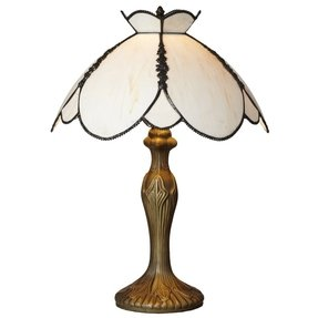 "Downton Abbey 17"" H Stained Glass Table Lamp with Bowl Shade"