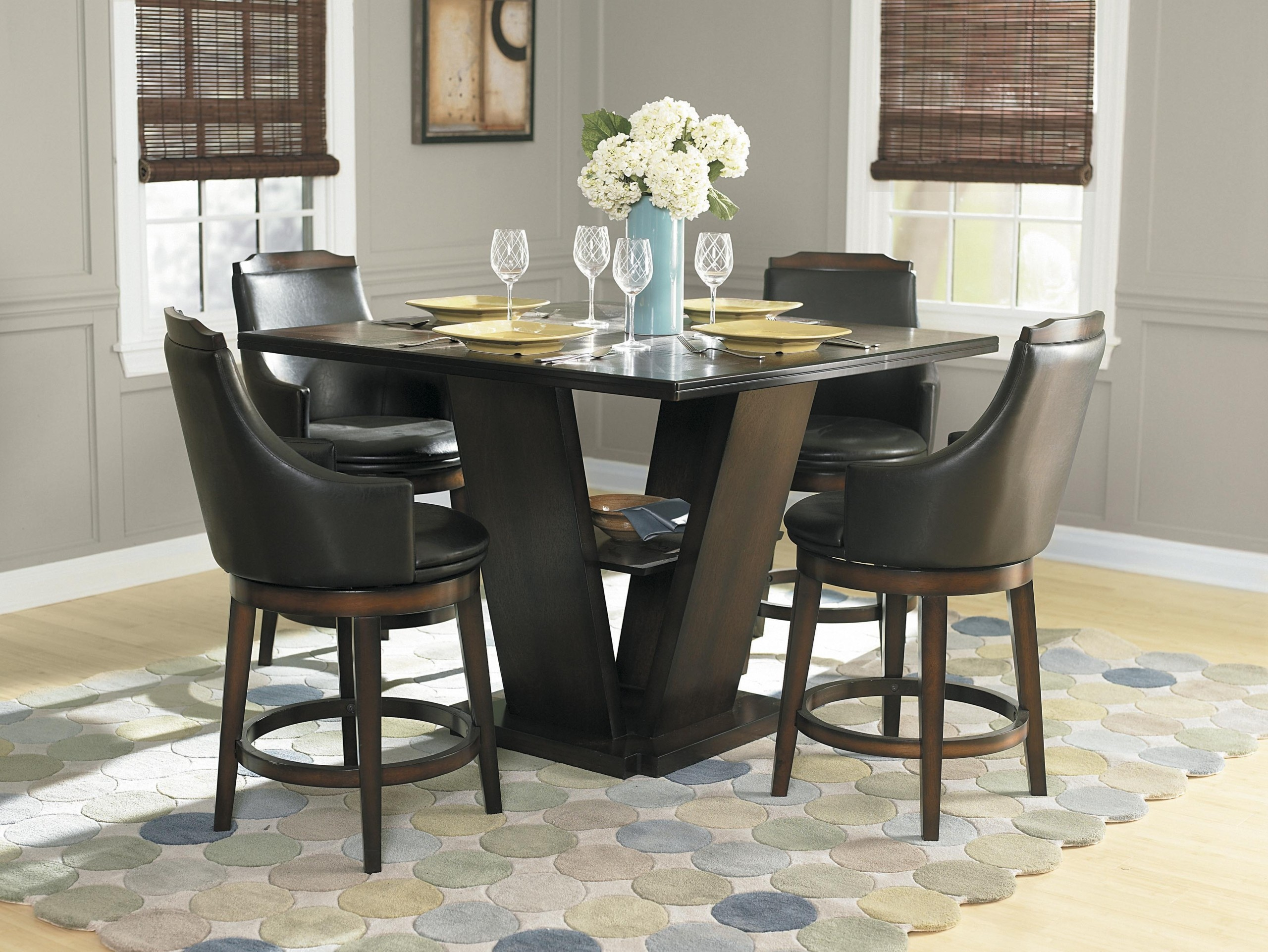 Edward 5 Piece Counter Height Dining Set