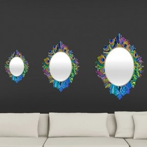 Elizabeth St Hilaire Nelson Cacophony of Color Wall Mirror