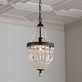 Mini black chandeliers with crystals foter evelynne mini crystal chandelier mozeypictures Gallery