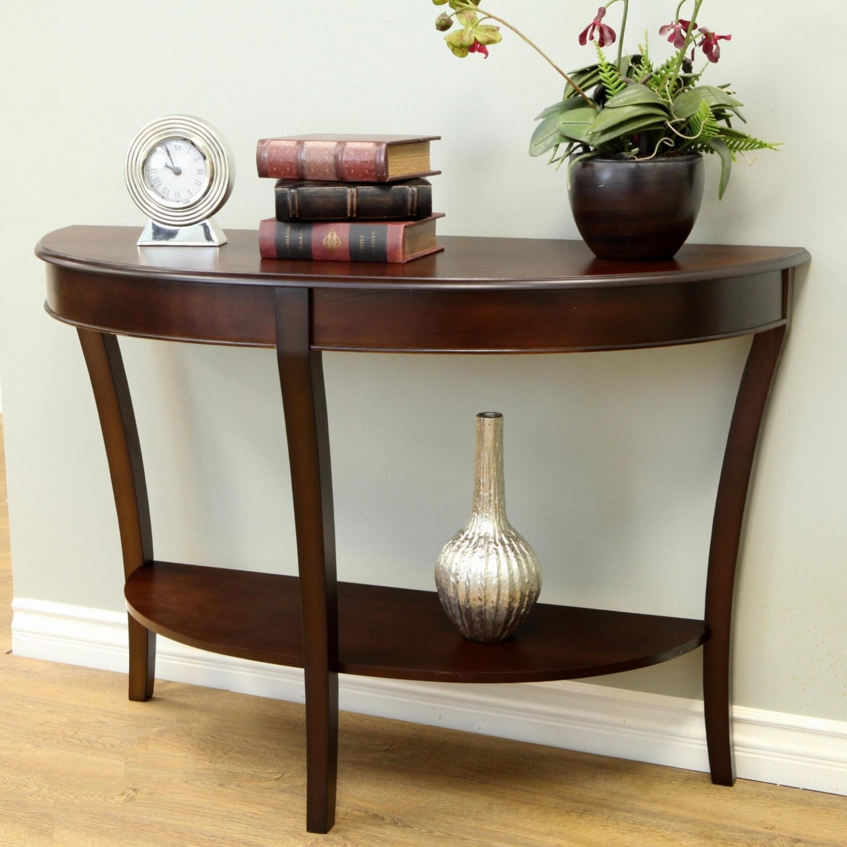 Charmant Half   Round Console Table
