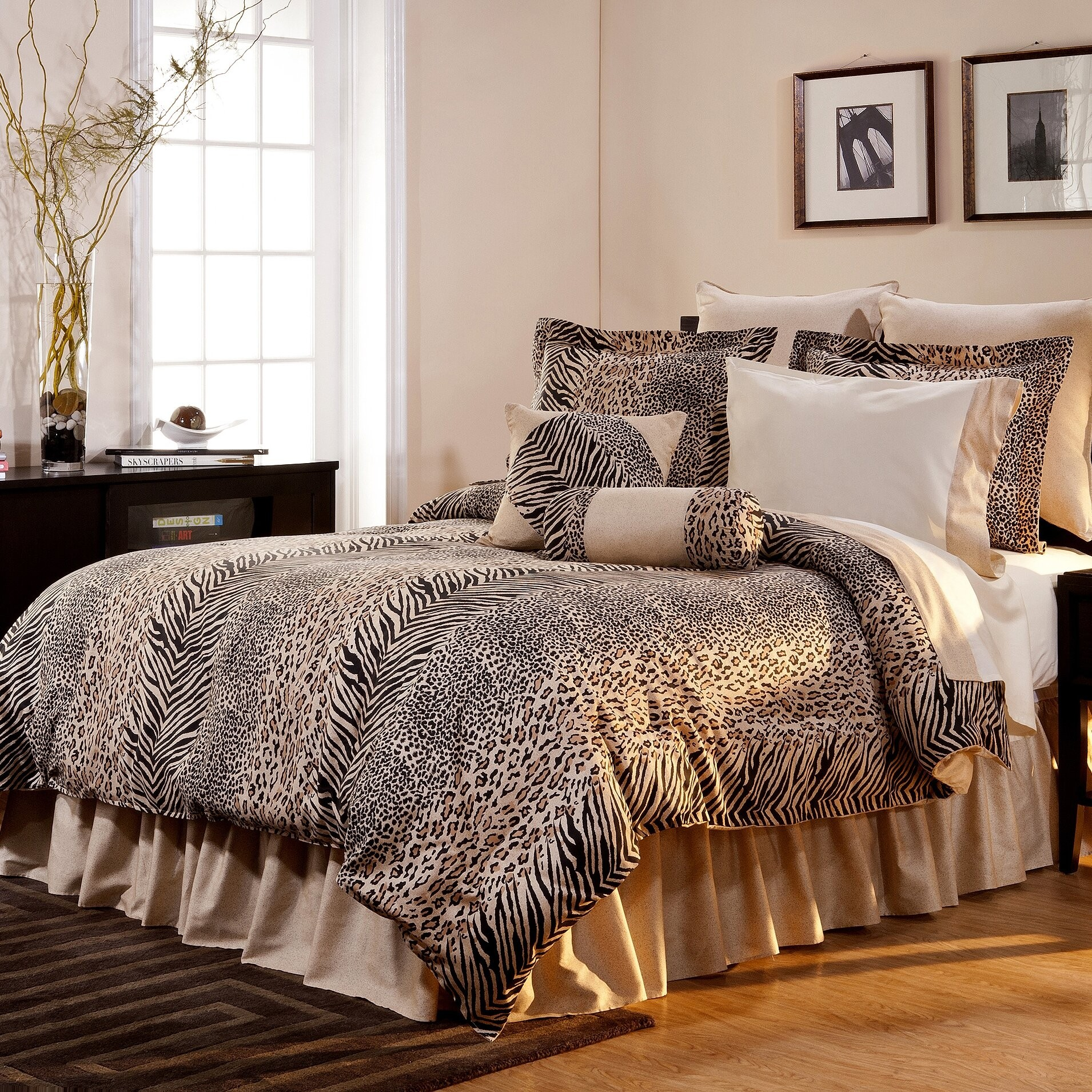 Bon King Size Animal Print Comforter Set   Foter