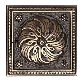 "Metal Ages 2"" x 2"" Celtic Glazed Decorative Tile Insert in Polished Bronze"