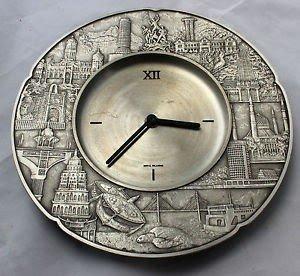 Royal Selangor Wall Clock Pewter Various Far East Images On