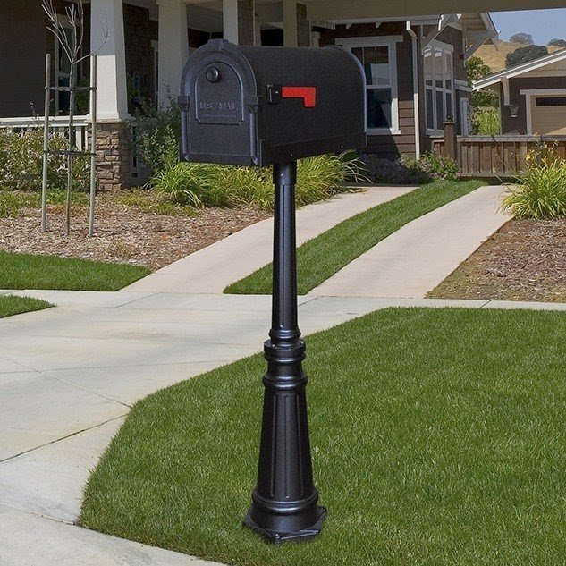 Savannah Curbside Mailbox with Tacoma Mailbox Post Unit