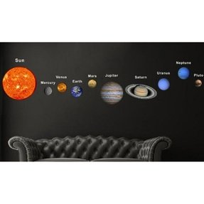 Solar Planets Fabric Wall Decal