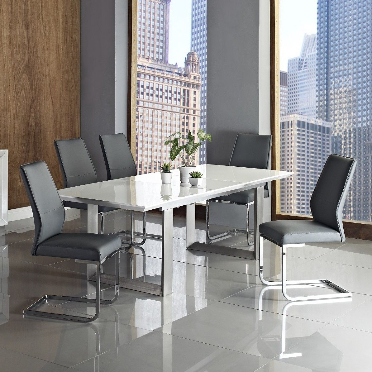 Steel Extendable Dining Table