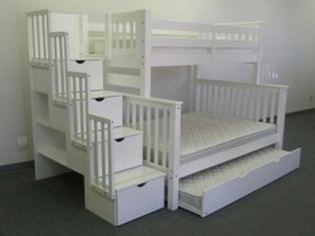 Twin Over Full Bunk Bed with Twin Trundle