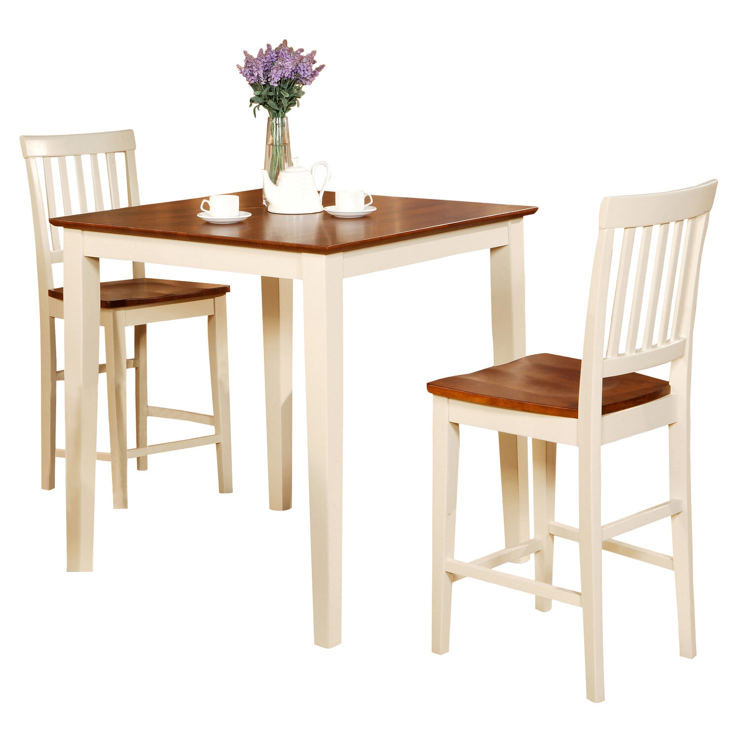 Vernon 3 Piece Counter Height Dining Set  sc 1 st  Foter & Light Wood Counter Height Dining Sets - Foter